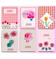 Floral invitation set vector image