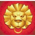 Abstract logo - metal lions head vector image