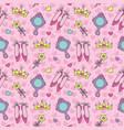 princess seamless pattern vector image vector image