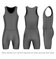Men rowing suit vector image vector image