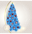 Abstract lace background with elegant Christmas vector image
