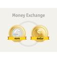 currency exchange business symbols concept vector image