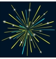 Firework background bark blue color vector image