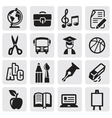 Icons set school vector image