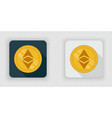 light and dark crypto currency icon ethereum vector image
