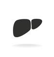 Liver simple black silhouette shape One color vector image