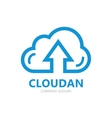 logo combination of a cloud and arrow up vector image