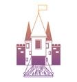 medieval castle with drawbridge vector image