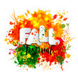 Text fall festival in paper style on multicolor vector image
