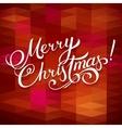 MERRY CHRISTMAS hand lettering - handmade vector image