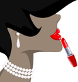 lady and red lipstick vector image vector image