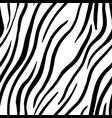 zebra stripes seamless pattern print design vector image