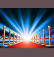 red carpet entrance vector image