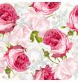romantic flowers vertical banner vector image