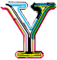 Grunge colorful font Letter Y vector image vector image