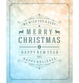 Christmas retro typography and light with snowlake vector image