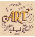 Art hand-lettering typography card vector image