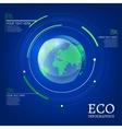ecological globe vector image