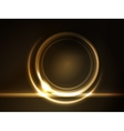 golden glowing round frame vector image vector image