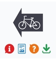 Bicycle path trail sign icon Cycle path vector image