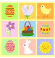 easter theme symbols vector image vector image