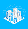 city landscape isometric vector image
