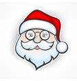 Cheerful Santa face vector image