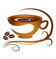 Coffee cup with pattern vector image