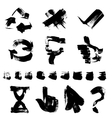 Figures different shapes drawn with a brush and vector image