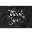 Hand lettering Thank You black paper background vector image