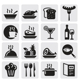 Icons set Restaurant vector image