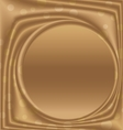 gold metal picture frame from the right circle vector image