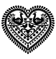 Polish folk art heart pattern for valentines day vector