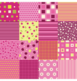 Girls seamless backgrounds vector image