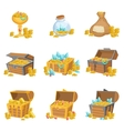 Treasure And Riches Set Of Graphic Design Elements vector image