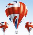 Hot balloons painted as British flag vector image