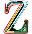 Grunge colorful font Letter Z vector image vector image