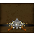 ornate frame with sheriff star vector image vector image