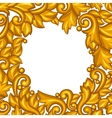 Background with baroque ornamental floral gold vector image