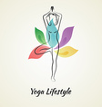Beautiful woman doing yoga vector image