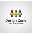 design zone logo vector image vector image