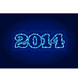 Electric 2014 year sign vector image