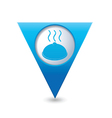 dish BLUE triangular map pointer vector image vector image