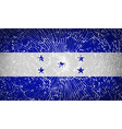 Flags Honduras with broken glass texture vector image