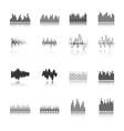 Equalizer black icons set vector image