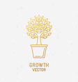 Growth concept and logo design element vector image