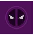evil eye abstract purple logo sign flat style art vector image