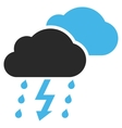 Thunderstorm Flat Pictogram vector image