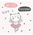 ballerina cat vector image