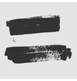 Black abstract hand painted brush strokes vector image